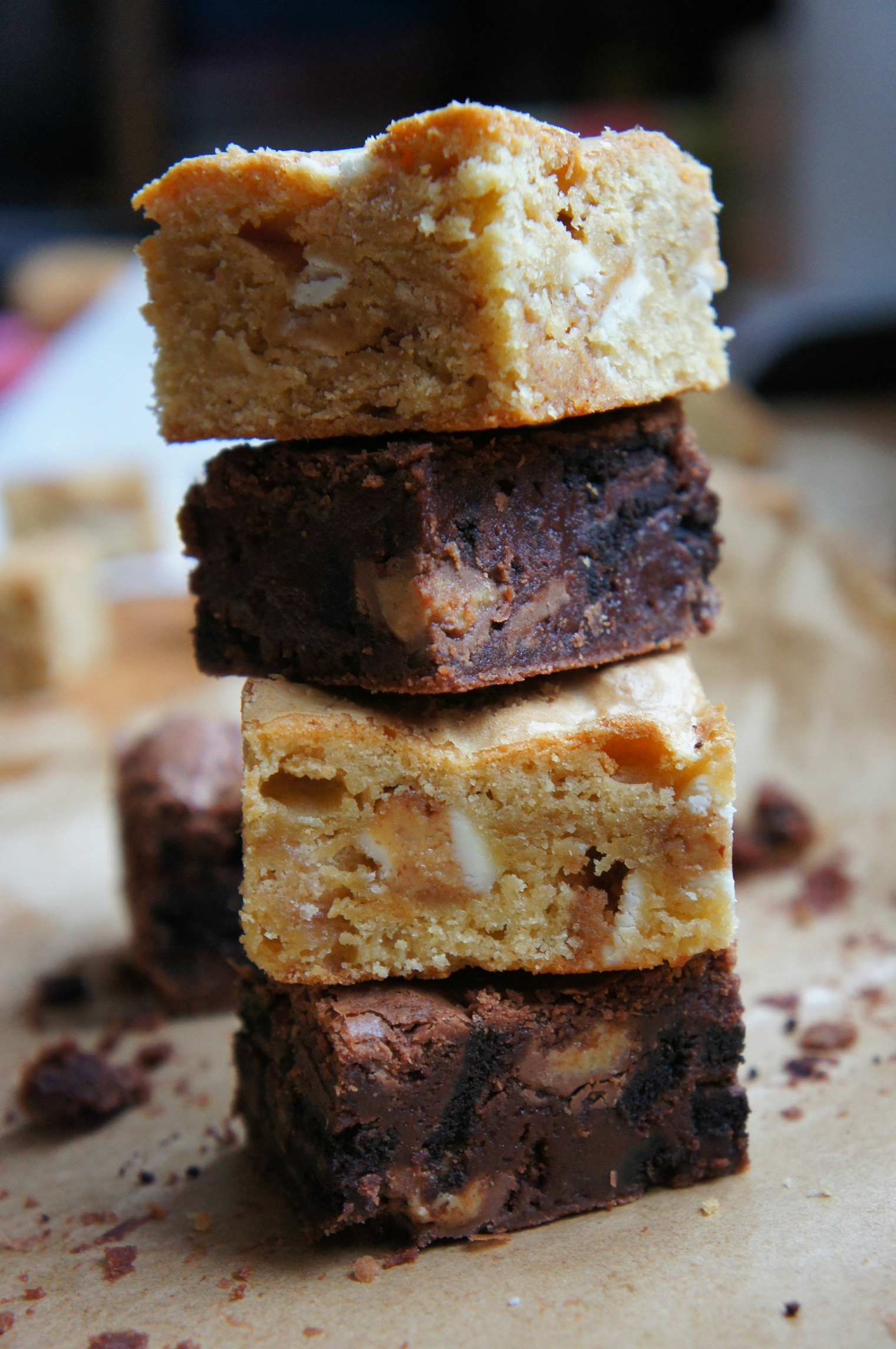 Reese's and Oreo blondies and brownies