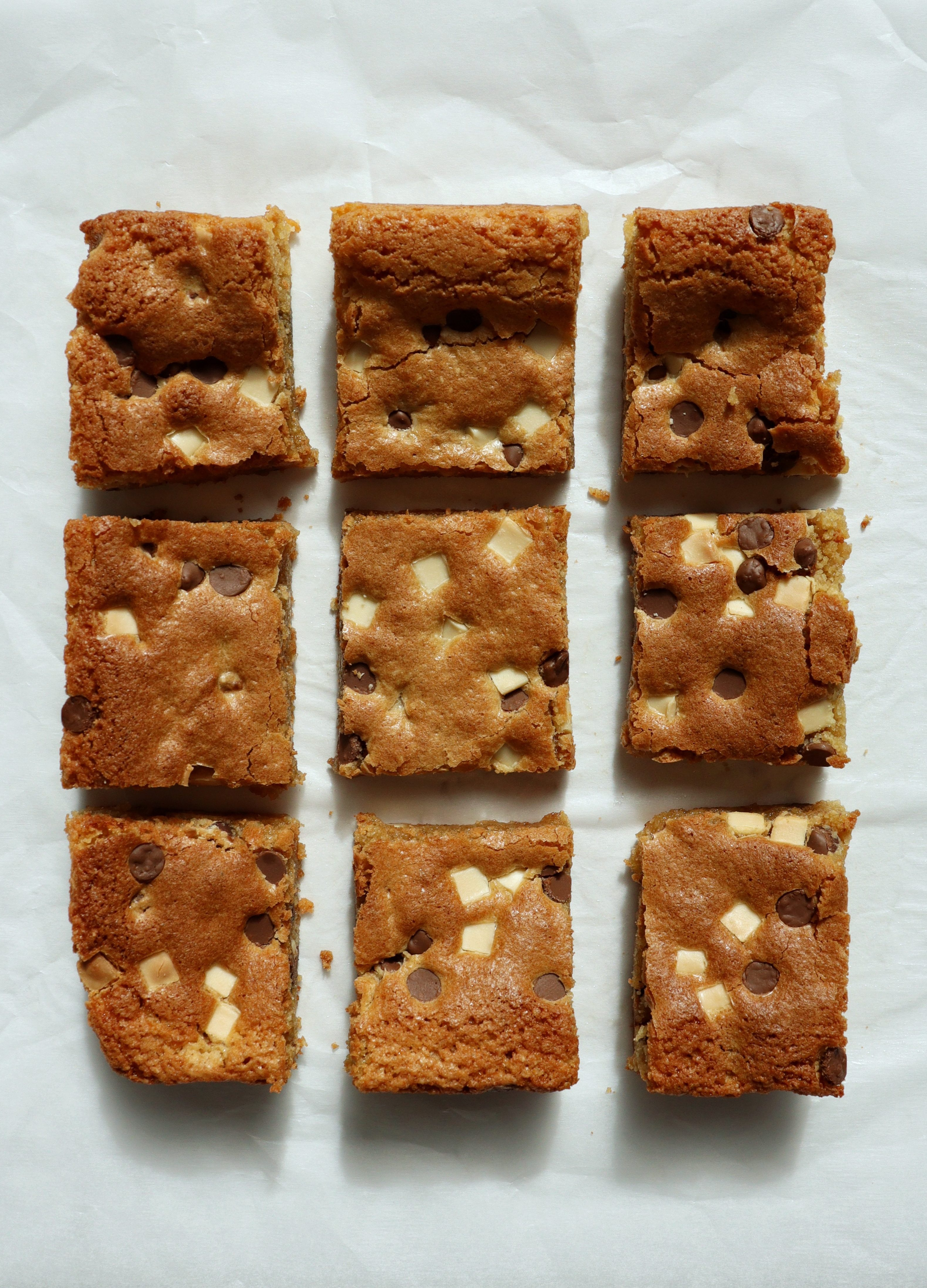 Gluten-free chocolate chip blondies